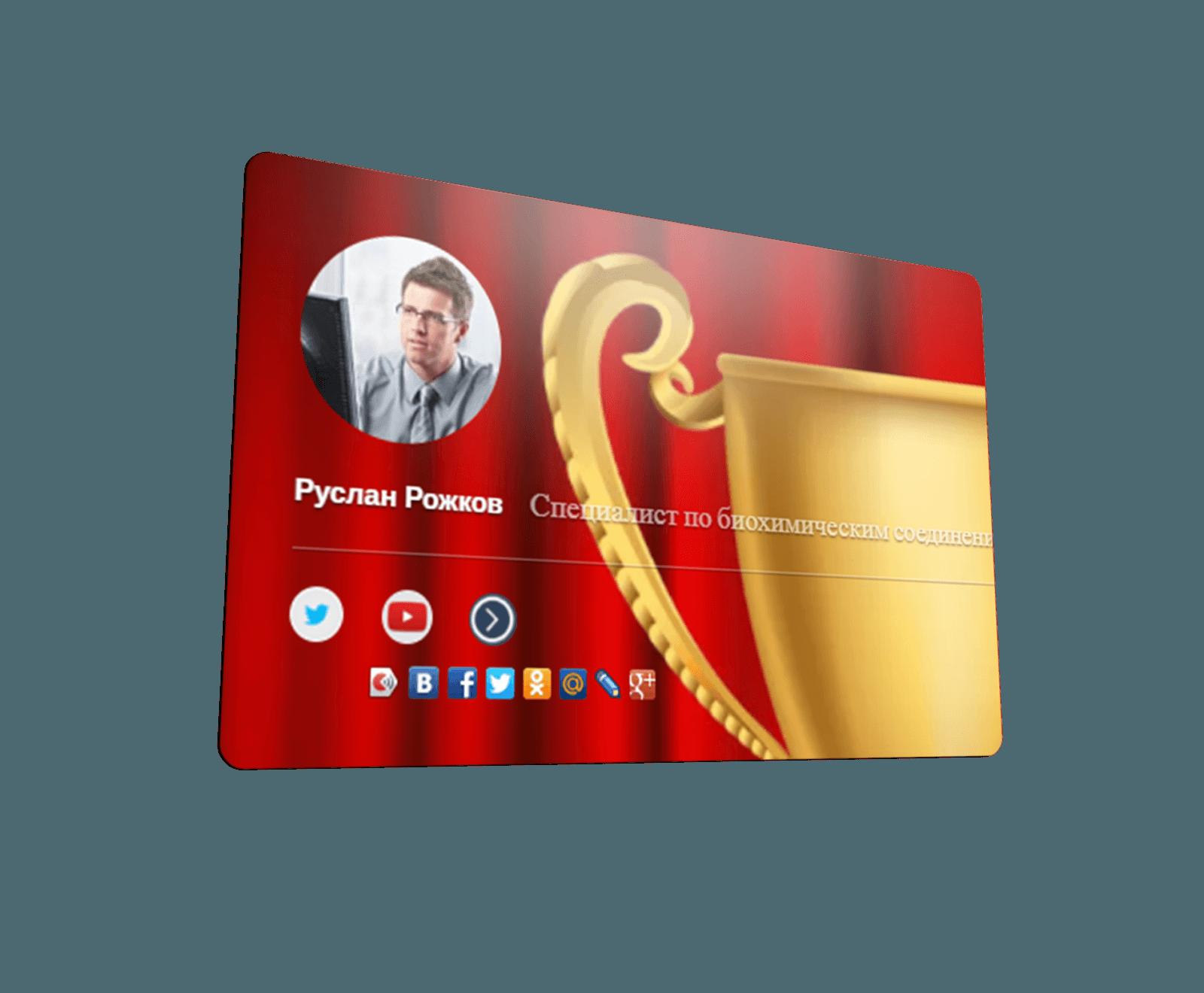 Победитель конкурса Лучшая интернет визитка