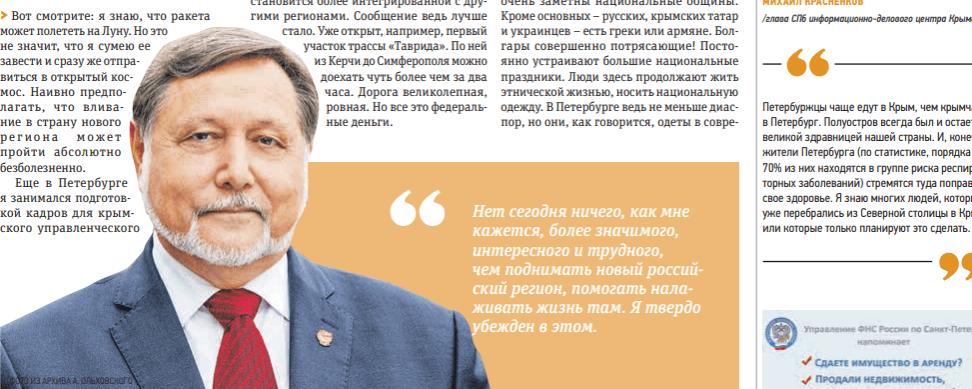 Александр Ольховский — Интервью по крыму